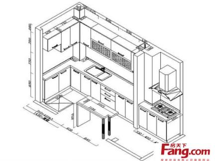 2017橱柜设计图纸大全 房天下装修效果图