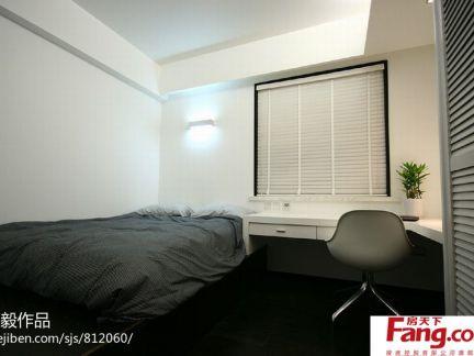 简约小面积卧室兼书房装修效果图