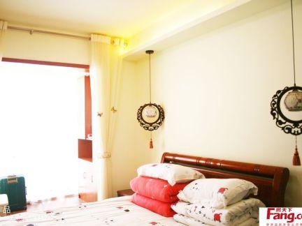 新中式卧室窗帘装修实景图