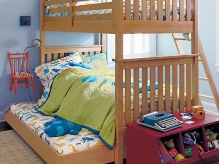双人儿童房上下铺设计效果图