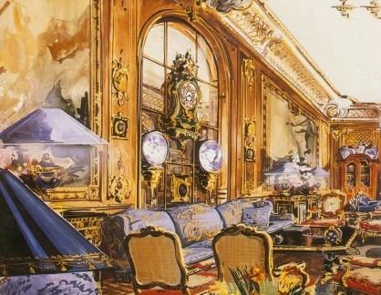 洛可可风格室内手绘效果图