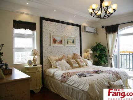 欧式卧室背景墙效果图图片