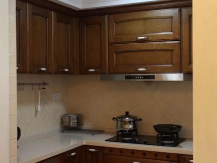 美式实木厨房橱柜图片-搜房网装修效果图图片