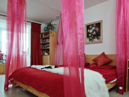 现代小户型婚房卧室布置图片