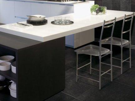 开放是厨房餐厅仿古砖铺贴效果图