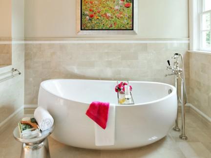 欧式卫生间瓷砖墙裙效果图