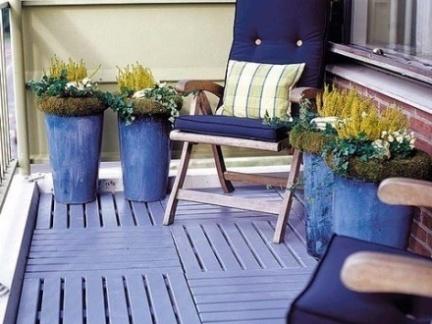 地中海小阳台花园设计效果图