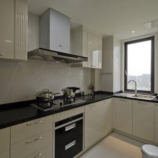 整体厨房l型橱柜效果图图片