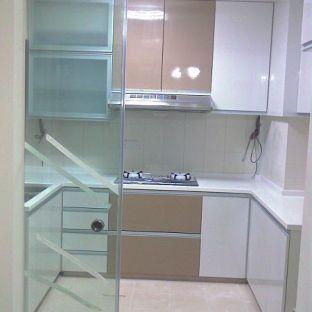厨房玻璃门效果图图片