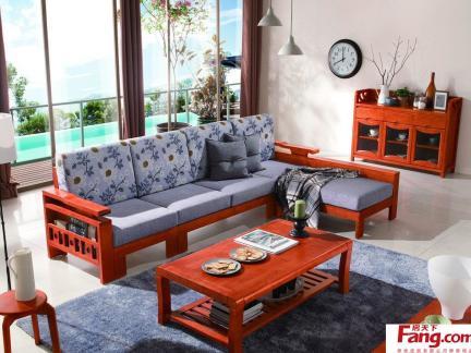 客厅红木沙发图