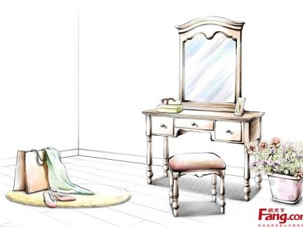 欧式家具梳妆台图片