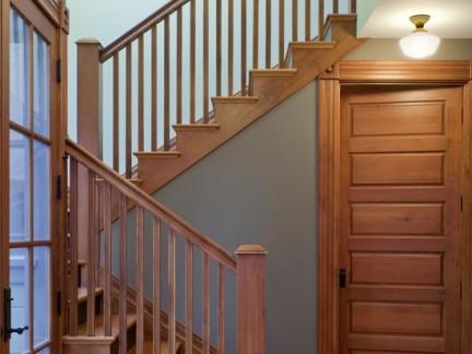 楼梯实木地板踢脚线效果图