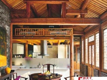 中式带阁楼的房子装修效果图