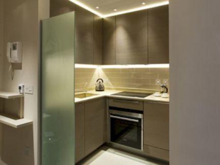 开放式厨房玻璃隔断效果图图片