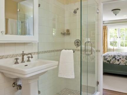 浴室无框玻璃门效果图