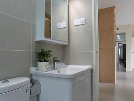 简单卫生间洗脸盆柜组合图片