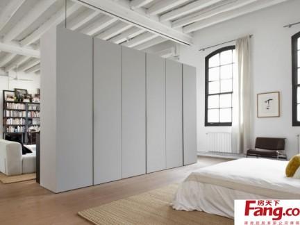 极简风格客厅卧室隔断柜效果图