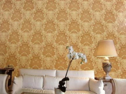 客厅无缝墙布效果图