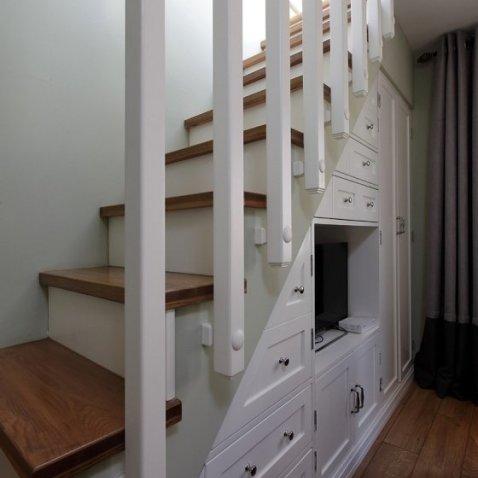 复式小户型楼梯设计 多层空间带 (478x478)-楼梯设计规范,小复式