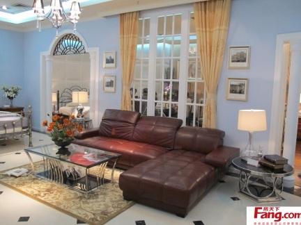 客厅防滑皮沙发坐垫图片-2017客厅沙发毛线编织坐垫 房天下装修效果