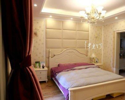 简欧式风格卧室床头背景墙装修效果图图片