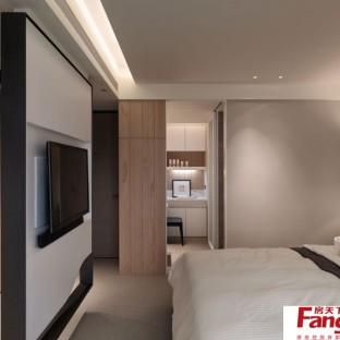 极简卧室设计隔断小户型客厅卧室隔断图片7