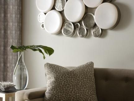 美式风格室内客厅沙发背景墙效果图