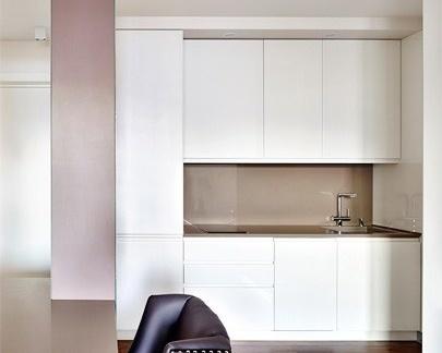 小户型公寓开放式厨房装修效果图