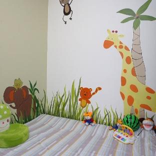 儿童房手绘墙效果图