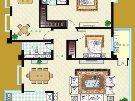 两室一厅平面布置图