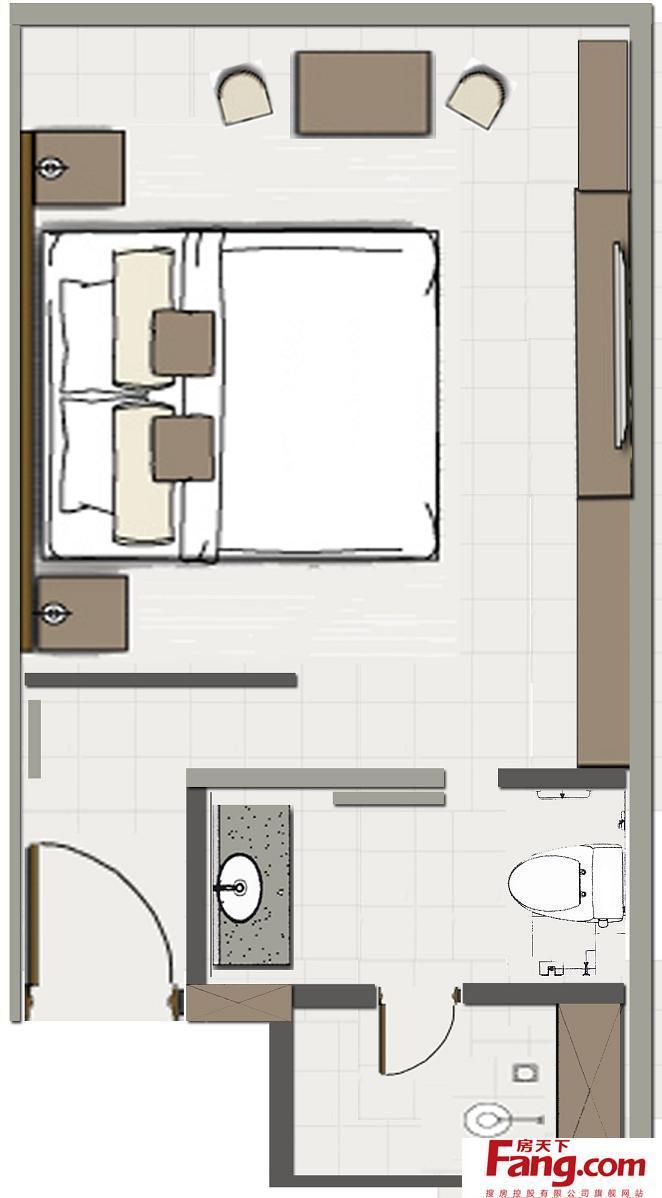 单人房间设计平面图