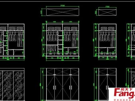 衣柜内部合理设计图