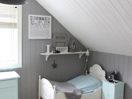 斜顶阁楼小孩卧室装修效果图