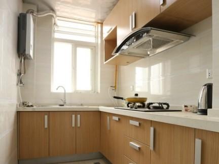 家庭厨房l型实木橱柜效果图片图片