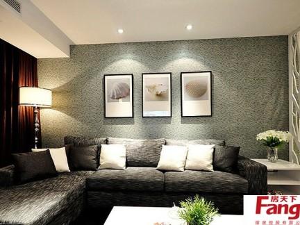 客厅沙发背景墙挂画装饰效果图片