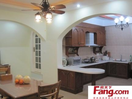 地中海风格开放式厨房效果图片