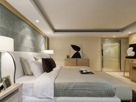 现代卧室影视墙效果图