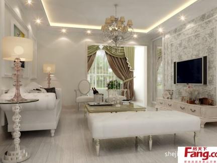 现代客厅壁纸装修效果图