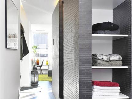 30平单身公寓装修过道效果图