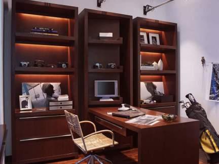 东南亚风格书房电视桌装修效果图