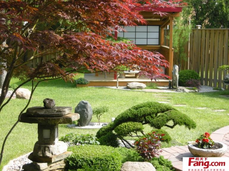 私家庭院景观设计-日式花园水景