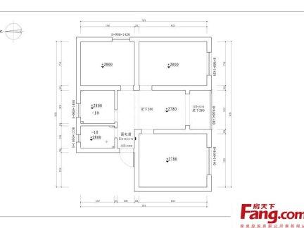 50平米两室一厅平面图