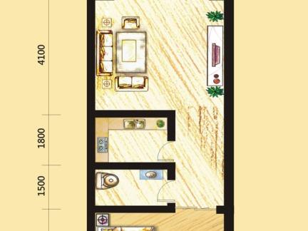 40平米小户型房屋平面设计图片-40平米小户型平面图 房天下装修效果图片