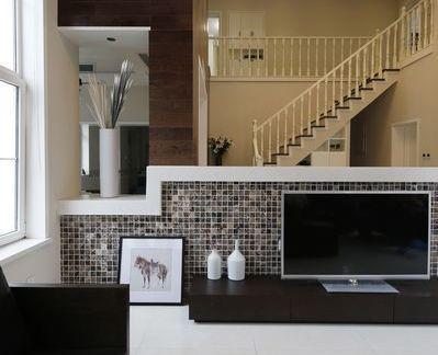复式楼客厅电视背景墙效果图片大全