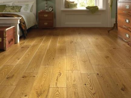 卧室浅色木地板贴图