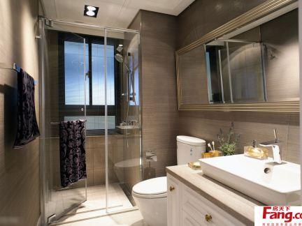卫生间浴室玻璃门隔断效果图