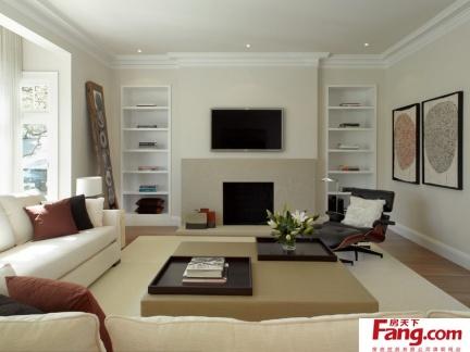简欧式客厅背景墙装修效果图大全2013图片