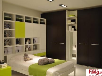 现代风格儿童房间装修效果图 2012儿童房装修效果图