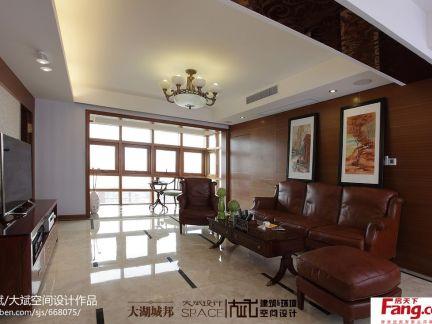 2017现代客厅吊顶灯带效果图 房天下装修效果图