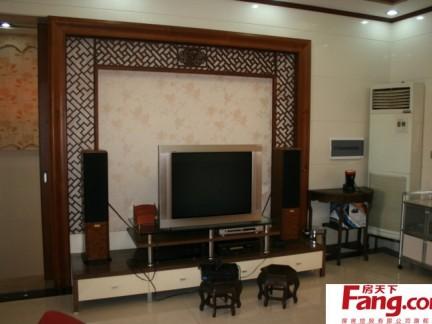 中式客厅电视机背景墙效果图